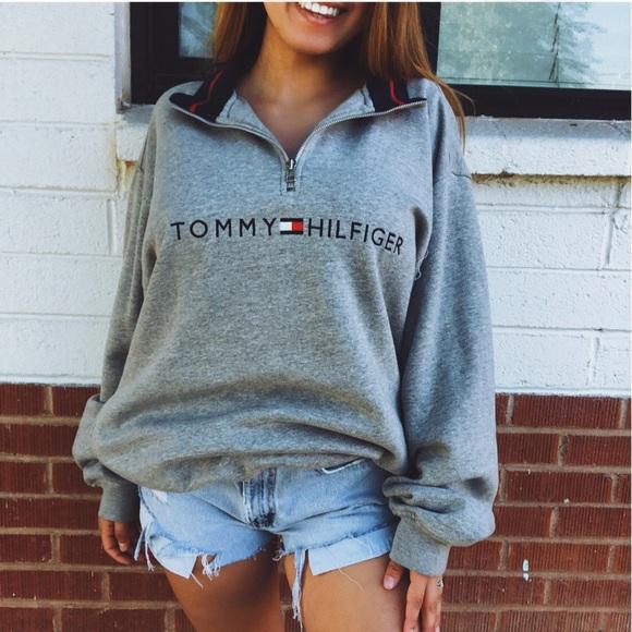 vintage tommy hilfiger half zip